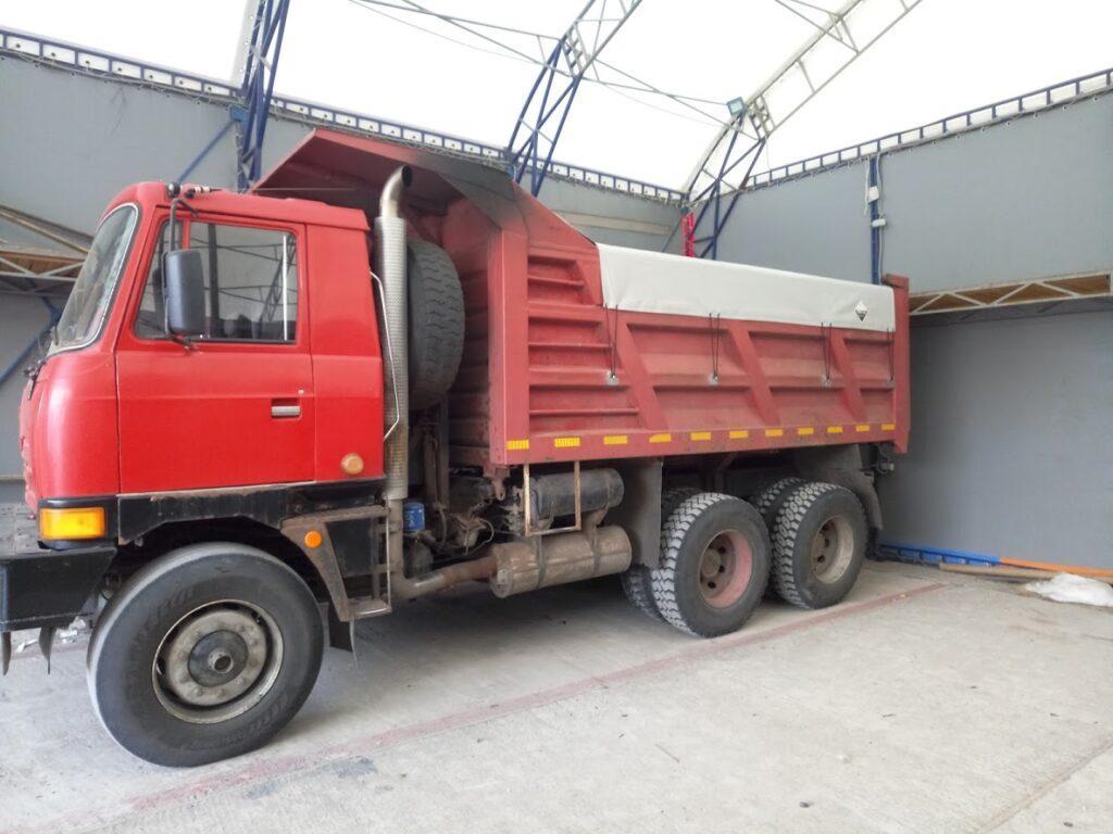 тент на грузовой зерневоз