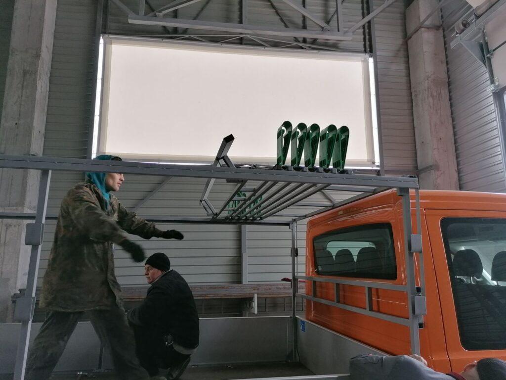 фурнітура для зсувних дахів напівпричепів